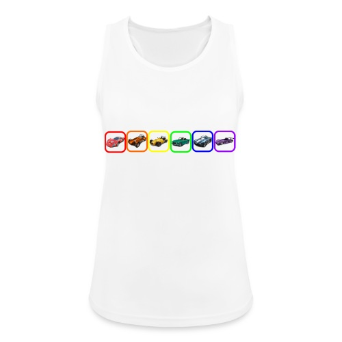 Rainbow Cars - Women's Breathable Tank Top