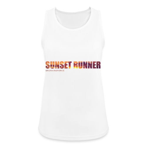 Sunset Runner - @RUNNINGFORCE - Frauen Tank Top atmungsaktiv