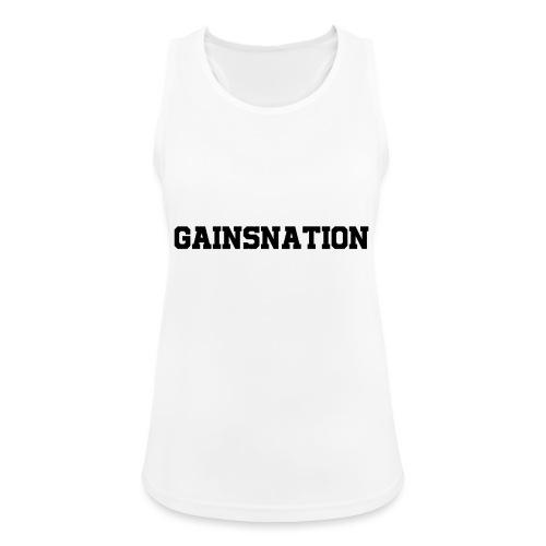 Kortärmad tröja Gainsnation - Andningsaktiv tanktopp dam
