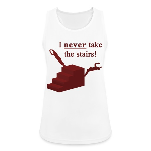 I Never Take The Stairs Red Parkour - Dame tanktop åndbar
