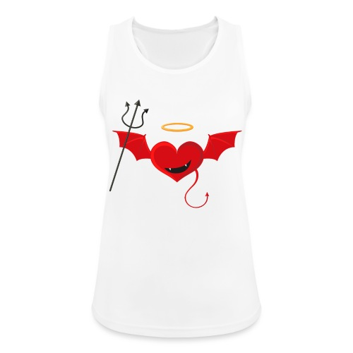 Red Heart Devil - Tank top damski oddychający