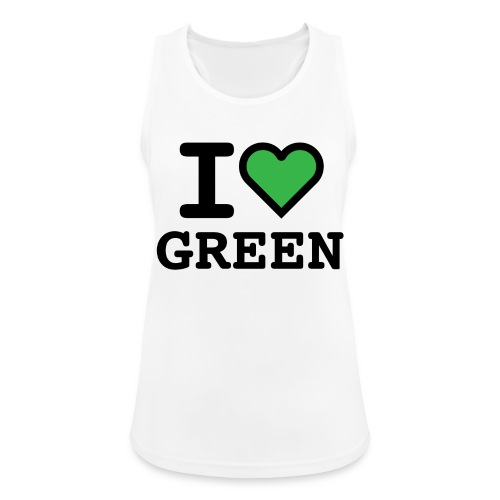 i-love-green-2.png - Top da donna traspirante