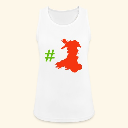 Hashtag Wales - Women's Breathable Tank Top