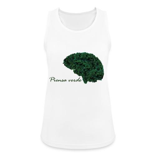 Piensa verde - Camiseta de tirantes transpirable mujer