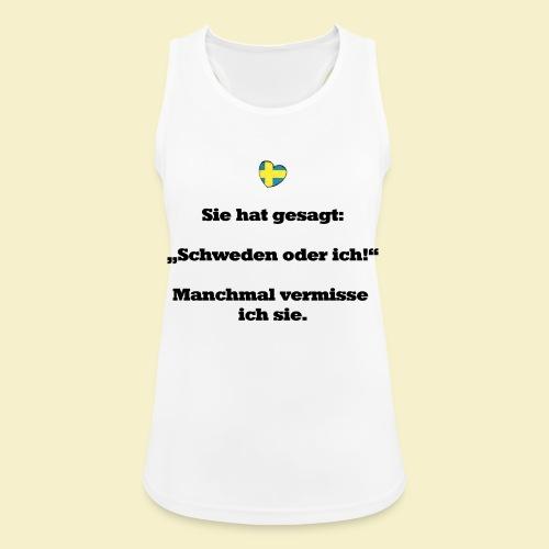 T-Shirt Schweden Herz schwarz für ihn - Frauen Tank Top atmungsaktiv