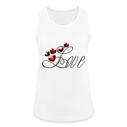 Love Herz - Frauen Tank Top atmungsaktiv