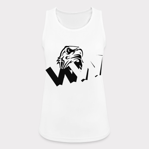 White and Black W with eagle - Women's Breathable Tank Top