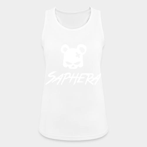 SAPHERA LOGO WHITE TRANS - Vrouwen tanktop ademend