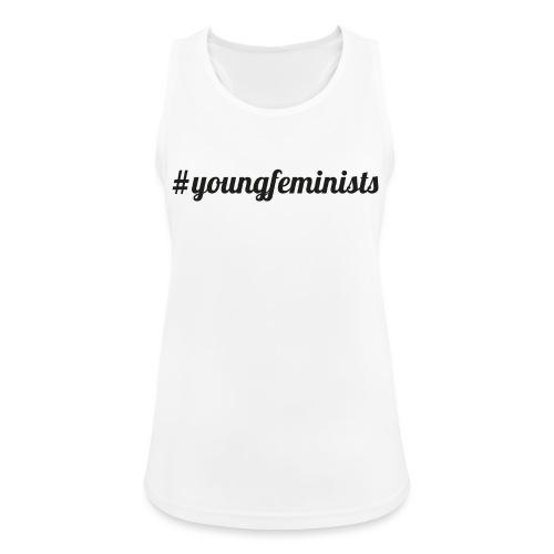 Young Feminists Schwarz - Frauen Tank Top atmungsaktiv