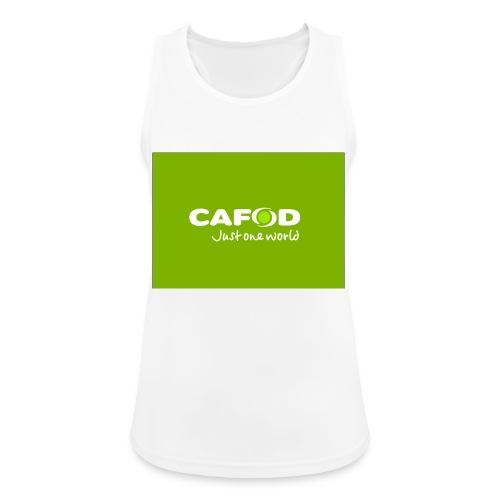 CAFOD Logo greenback - Women's Breathable Tank Top