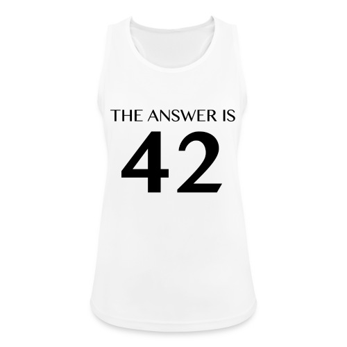 The Answer is 42 Black - Women's Breathable Tank Top