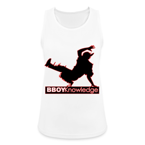 Bboy Knowledge Logo Variation Red - Débardeur respirant Femme