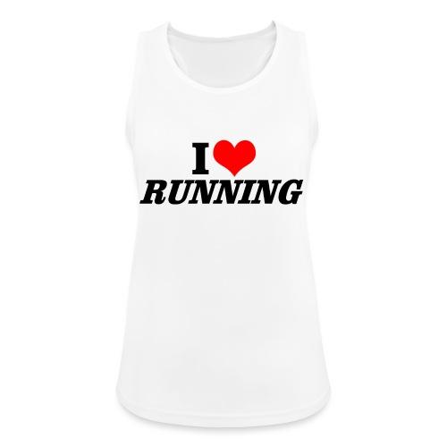 I love running - Frauen Tank Top atmungsaktiv
