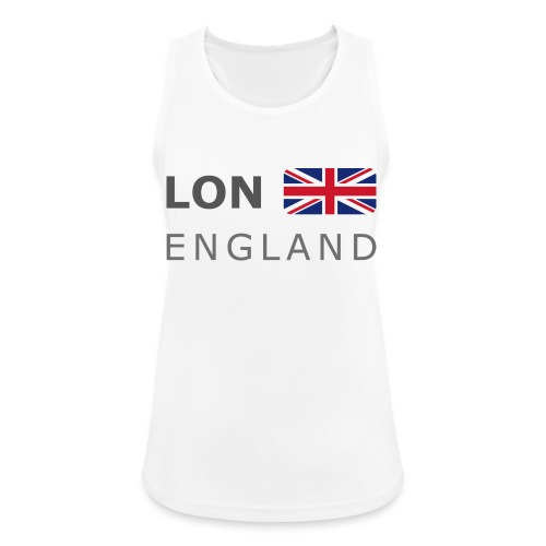 LON ENGLAND BF dark-lettered 400 dpi - Women's Breathable Tank Top