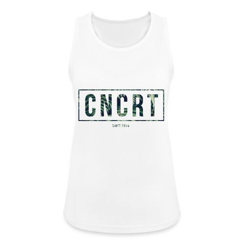 CNCRT white shirt (Plant Print) - Vrouwen tanktop ademend actief