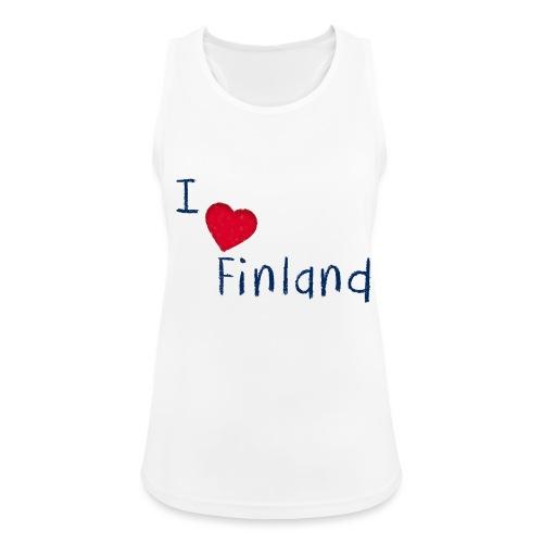 I Love Finland - Naisten tekninen tankkitoppi