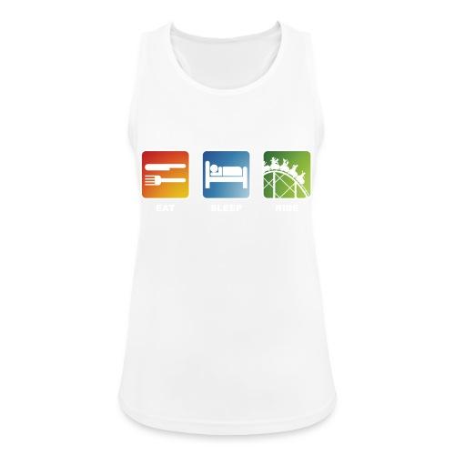 Eat, Sleep, Ride! - T-Shirt Schwarz - Frauen Tank Top atmungsaktiv