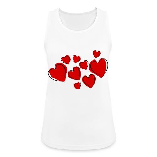 hearts herzen - Frauen Tank Top atmungsaktiv
