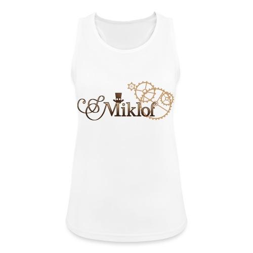 miklof logo gold wood gradient 3000px - Women's Breathable Tank Top