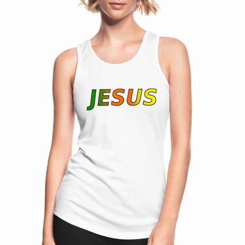 JESUS - grün/orange/gelb - Frauen Tank Top atmungsaktiv