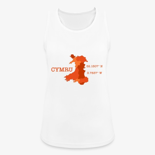 Cymru - Latitude / Longitude - Women's Breathable Tank Top