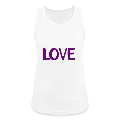 love 1 - Camiseta de tirantes transpirable mujer