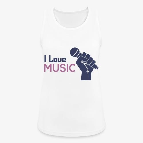Amo la música - Camiseta de tirantes transpirable mujer