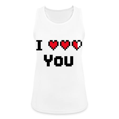 I pixelhearts you - Vrouwen tanktop ademend actief