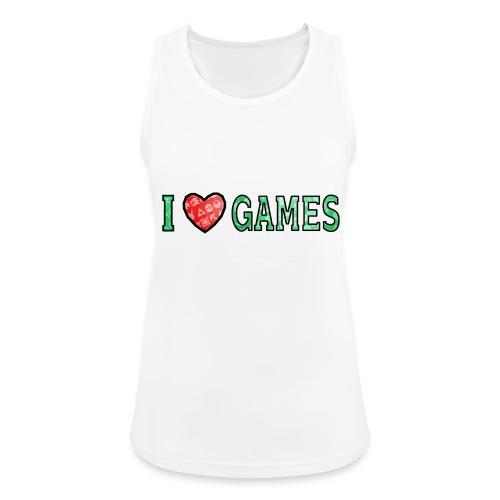 I Love Games - Tank top damski oddychający