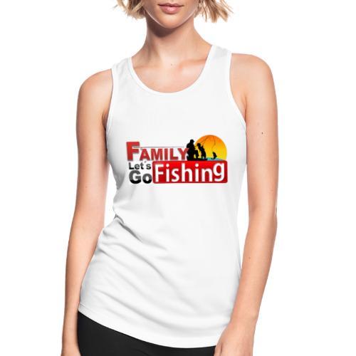 FAMILY LET´S GO FISHING FONDO - Camiseta de tirantes transpirable mujer