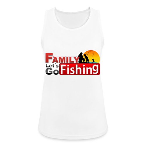 FAMILY LET´S GO FISHING FONDO - Camiseta de tirantes transpirable mujer