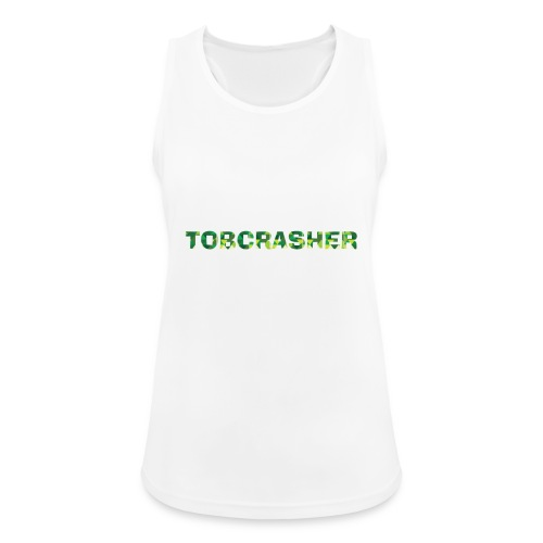 Tshirt Green triangles big - Frauen Tank Top atmungsaktiv