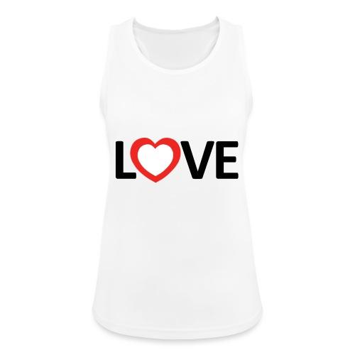 Love - Camiseta de tirantes transpirable mujer