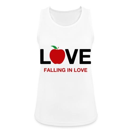 Falling in Love - Black - Women's Breathable Tank Top