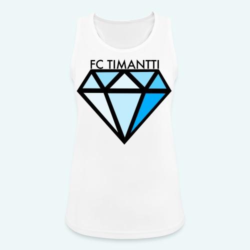 FC Timantti mustateksti - Naisten tekninen tankkitoppi