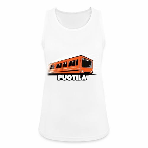 HELSINKI PUOTILA METRO T-Shirts, Hoodies, Gifts - Naisten tekninen tankkitoppi