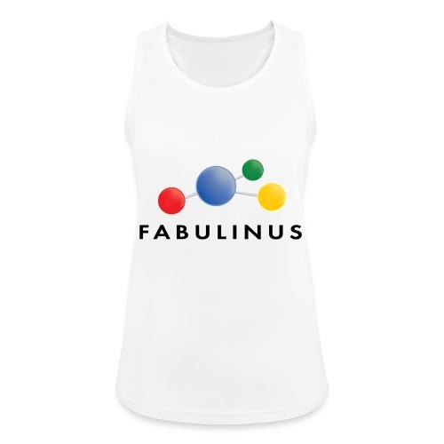 Fabulinus logo dubbelzijdig - Vrouwen tanktop ademend actief