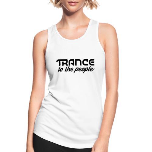 Trance to the People Sort Logo - Dame tanktop åndbar