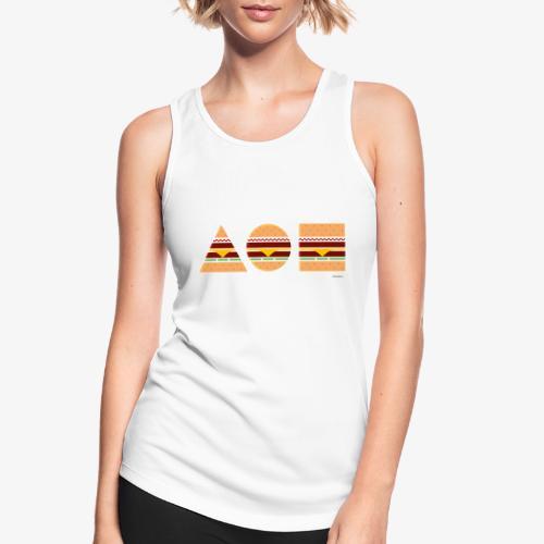 Graphic Burgers - Top da donna traspirante