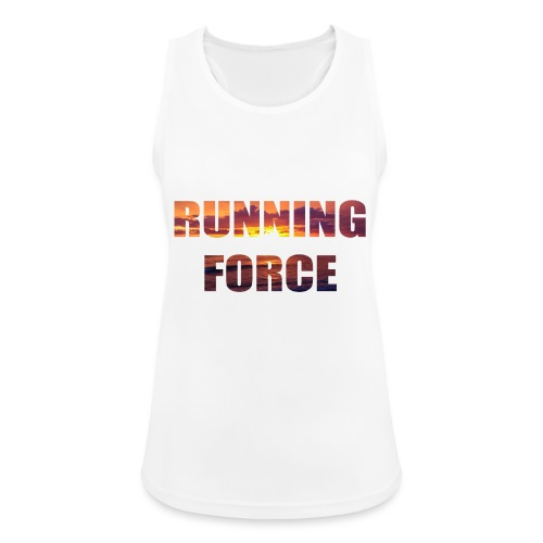 Logo-Shirt RUNNINGFORCE - Frauen Tank Top atmungsaktiv
