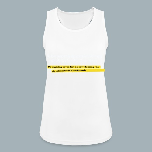 Nederlandse Grondwet T-Shirt - Artikel 90 - Vrouwen tanktop ademend actief
