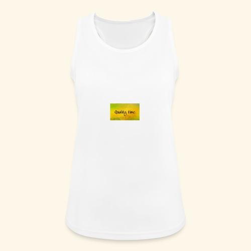 Quality time gute Zeit Familie T-Shirt Shirt - Frauen Tank Top atmungsaktiv