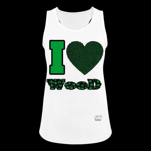 I Love weed - Débardeur respirant Femme
