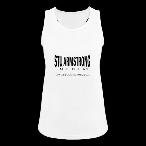 Stu Armstrong Media Black Logo - Women's Breathable Tank Top
