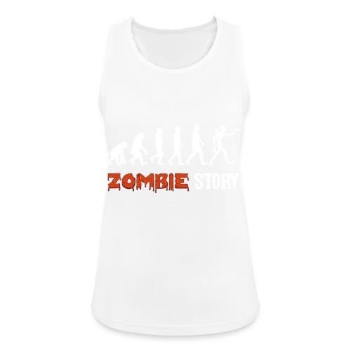 zombie zombies évolution geek préhistoire - Débardeur respirant Femme