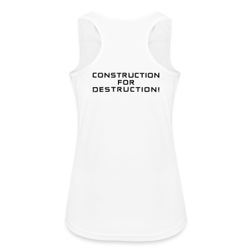 Black Negant logo + CONTRUCTION FOR DESTRUCTION! - Dame tanktop åndbar