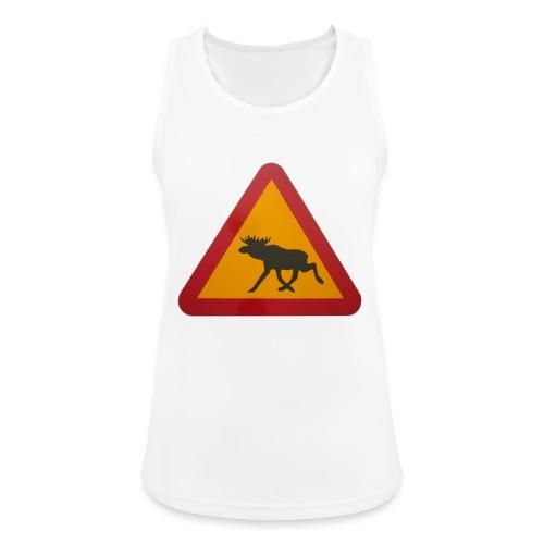 Warnschild Elch - Frauen Tank Top atmungsaktiv