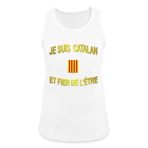 Tee-Shirt supporter du pays CATALAN - Débardeur respirant Femme
