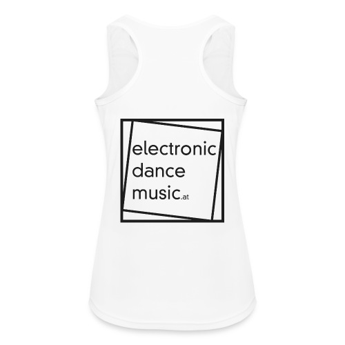 electronicdancemusic.at schwarz - Frauen Tank Top atmungsaktiv