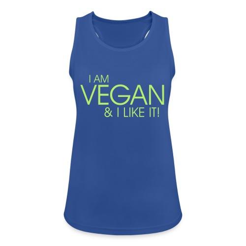 I am vegan and I like it - Frauen Tank Top atmungsaktiv